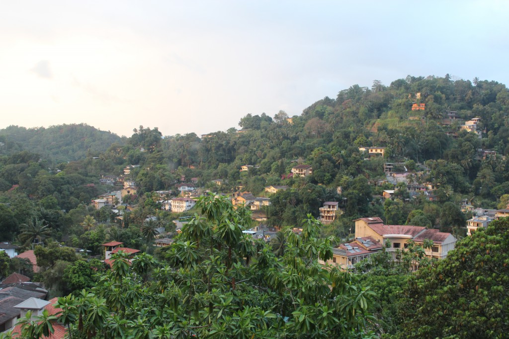 Ausblick vom Kandy View Hotel in Sri Lanka