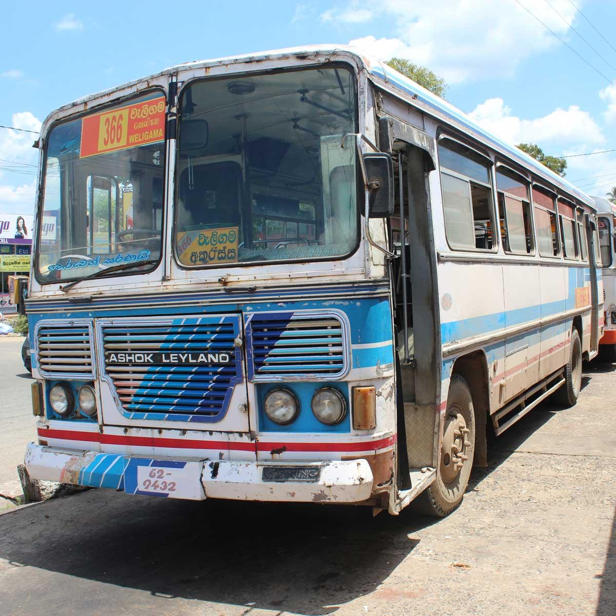 Linien-Bus in Sri Lanka